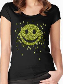 Happy Crowd Women's Fitted Scoop T-Shirt