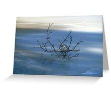 Blue Zen Greeting Card