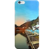 Pontoon landing stages in the harbour | waterscape photography iPhone Case/Skin