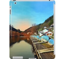 Pontoon landing stages in the harbour | waterscape photography iPad Case/Skin