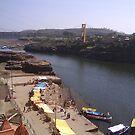 The ghats at Omkareshwar 3 by anandbakshi