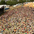 Glastonbury Festival - The Park stage area aerial view of the crowd by RedSteve