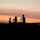 Cyclist Buddies by Larry Trupp