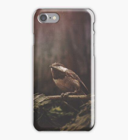 Chickadee in the Redwoods iPhone Case/Skin