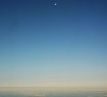 Sky & Moon From The Plane by ImogenC