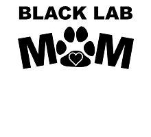 Black Lab Mom Photographic Print