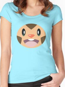 Pokemon - Chespin / Harimaron Women's Fitted Scoop T-Shirt