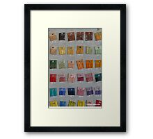 Arts Studio - Color's chart Framed Print