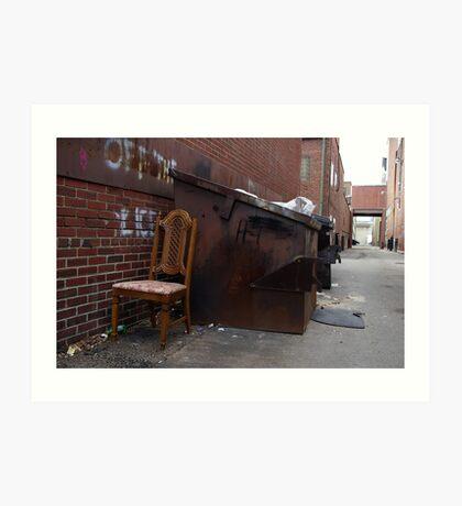 Alley Chair Art Print