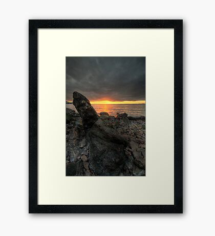 Portishead sunset HDR Framed Print