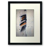 Orange, Black, White Framed Print