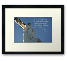 God So Loved Framed Print