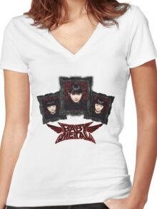 Gothic - bbymetal Women's Fitted V-Neck T-Shirt