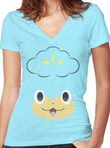 Pokemon - Pansage / Yanappu Women's Fitted V-Neck T-Shirt