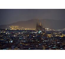 Barcelona at night light Photographic Print