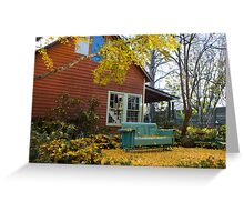 Cozy spot under the Gingko Tree Greeting Card
