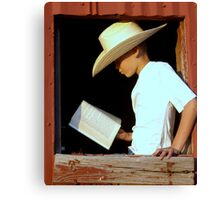 Cowboy Literature Canvas Print