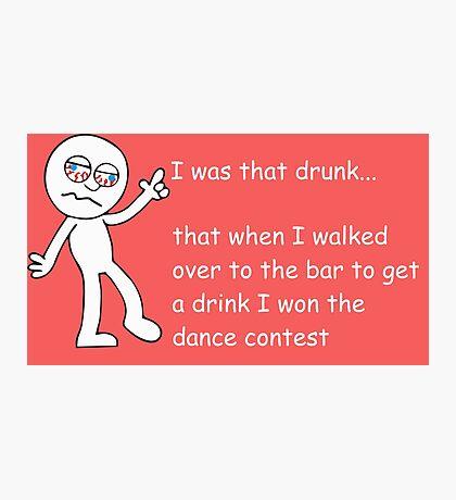 Drunk Funny Stickman Colour Photographic Print