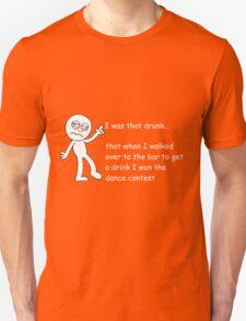 Drunk Funny Stickman Colour Unisex T-Shirt