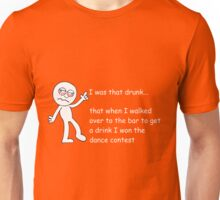 Drunk Funny Stickman Colour Unisex T-Shirt