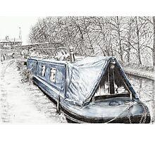 Misty Blue at Hebden Bridge Photographic Print