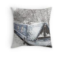 Misty Blue at Hebden Bridge Throw Pillow