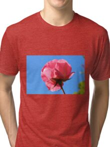 Pink Rose And The Blue Sky Tri-blend T-Shirt