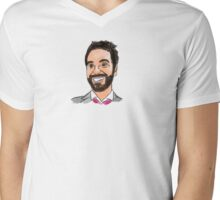 Chris Marshall Illustration Mens V-Neck T-Shirt