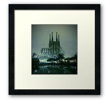 Sagrada Familia at night Framed Print