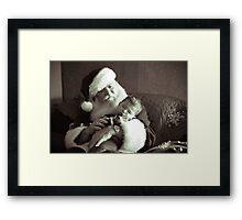 Santa and Babe Framed Print