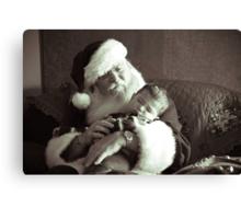 Santa and Babe Canvas Print