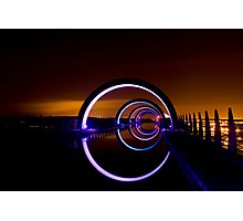 Falkirk Wheel at Night Photographic Print