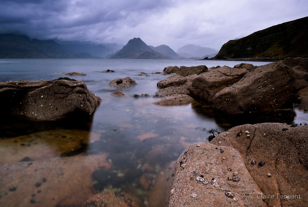 The Cullins from Elgol by Claire Tennant