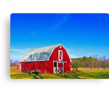Another Red Barn Canvas Print