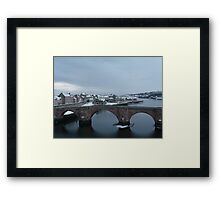 The 'old bridge' over the Tweed Framed Print