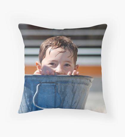 TINY GIRL Throw Pillow