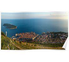Panorama of Dubrovnik Poster