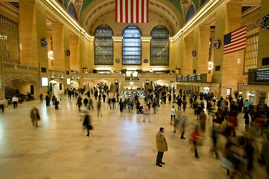 Christmas Rush - Grand Central Station, NY by Rachelle Vance
