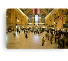 Christmas Rush - Grand Central Station, NY Canvas Print