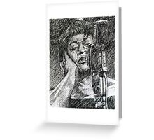 Jazz Portraits-Ella Fitzgerald Greeting Card