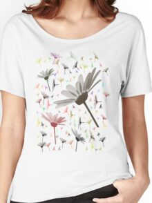 Love Daisies Tshirt Women's Relaxed Fit T-Shirt