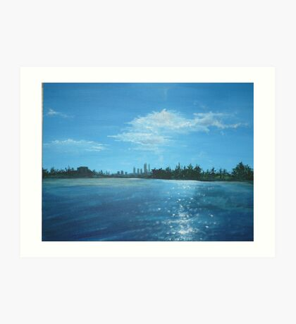 The City of Perth from a Cruiser Art Print