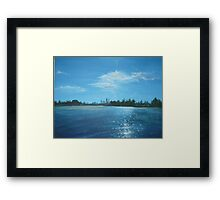 The City of Perth from a Cruiser Framed Print