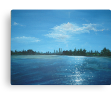 The City of Perth from a Cruiser Canvas Print