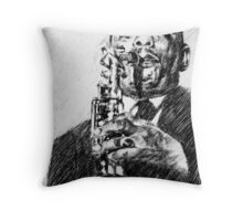 Jazz portraits-Johnny Hodges Throw Pillow