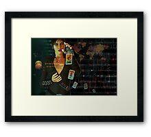 card reader Framed Print