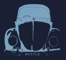 VW Beetle Shirt -  Light Blue by melodyart