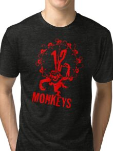 12 Monkeys Red Stencil Tri-blend T-Shirt