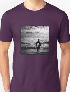 Heading Out - B&W Halftone T-Shirt