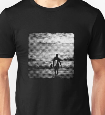 Heading Out - B&W Halftone Unisex T-Shirt